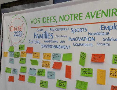 Châtel 2025 : le mur à idées à la rencontre des habitants