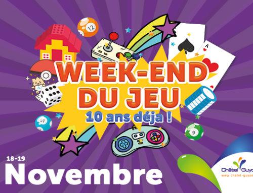 Le week-end du jeu revient les 18 et 19 novembre !
