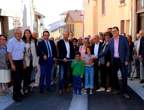 Inauguration des rues Sainte Anne, Jeanne d'Arc et des Ecoles modernisées !