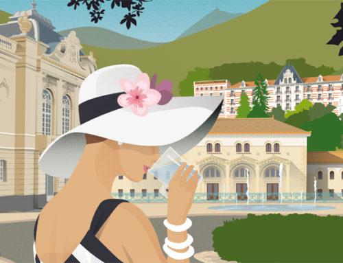 Châtel-Guyon renoue avec la tradition des « affiches vintage »