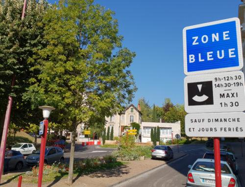 RAPPEL : Zone bleue, 1h30 de stationnement gratuit