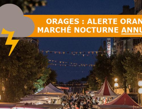 Alerte orange : marché nocturne annulé en raison des orages
