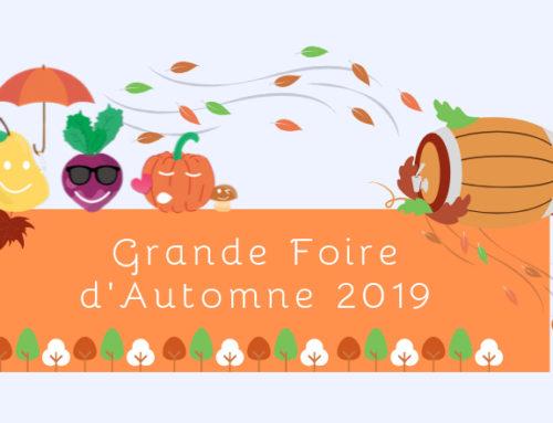 Une Foire d'Automne pour tous les goûts dimanche 22 septembre !