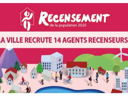 Le recensement 2020 se prépare : la Ville recrute 14 agents recenseurs