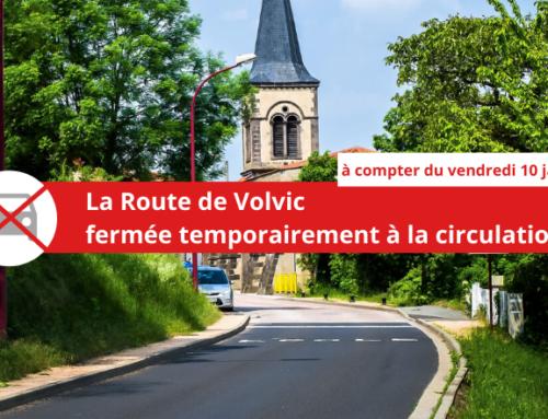 Travaux : la Route de Volvic temporairement fermée à la circulation