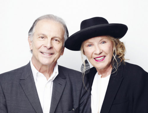 Roland Giraud et sa femme Maaike Jansen au Théâtre le 17 janvier