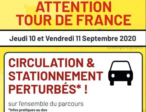 Tour de France : infos circulation et stationnement les 10 et 11 septembre