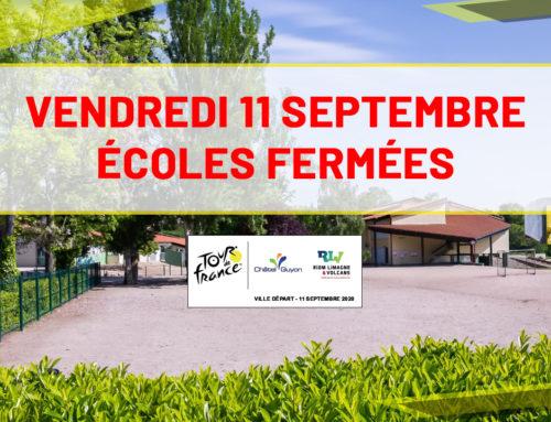 Tour de France : Fermeture exceptionnelle des écoles vendredi 11 septembre