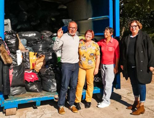 6 tonnes de vêtements collectées au profit d'Emmaüs !
