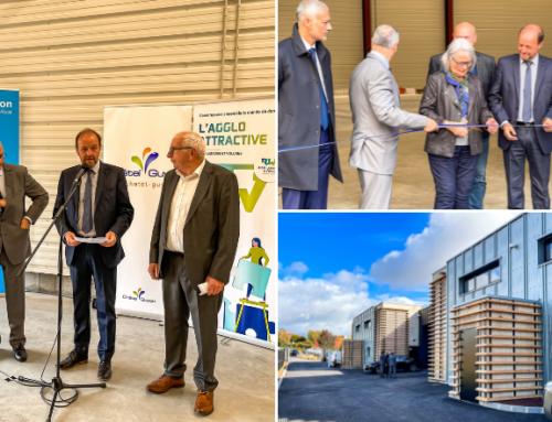 Inauguration du nouvel hôtel d'entreprises dans l'Eco-parc Auvergne de Châtel-Guyon